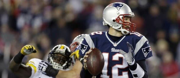 Brady has performed well against the Steelers