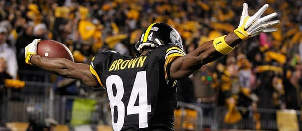 Brown scored two touchdowns for the Steelers