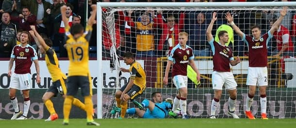 Arsenal needed an injury-time winner to beat Burnley in October.
