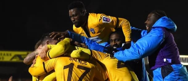 Sutton knocked AFC Wimbledon out of the FA Cup.