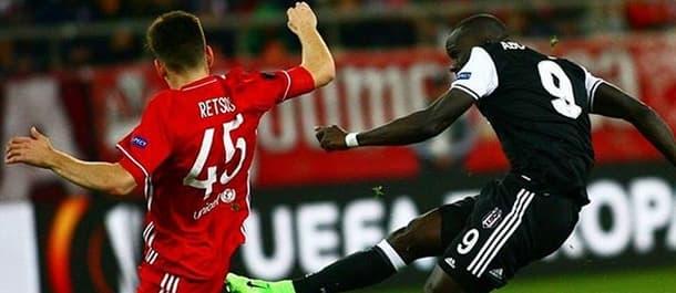 Olympiakos and Besiktas drew 1-1 in their Europa League first leg.