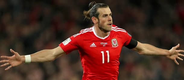 Gareth Bale lines up for Wales versus Ireland on Friday night.