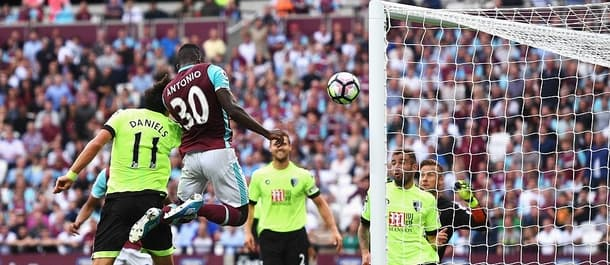 Antonio's late goal gave West Ham a 1-0 win over Bournemouth earlier in the season.
