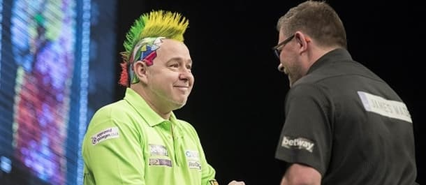 Peter Wright is top of the Premier League table.