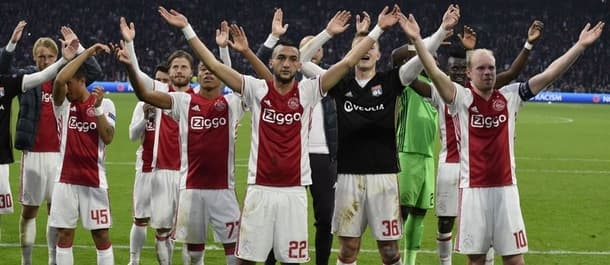 Ajax hold a 4-1 first leg lead against Lyon.