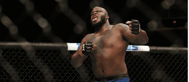 Derrick Lewis Celebrates a UFC Victory