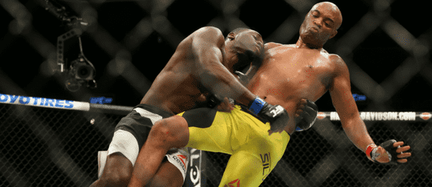 Derek Brunson takes down Anderson Silva