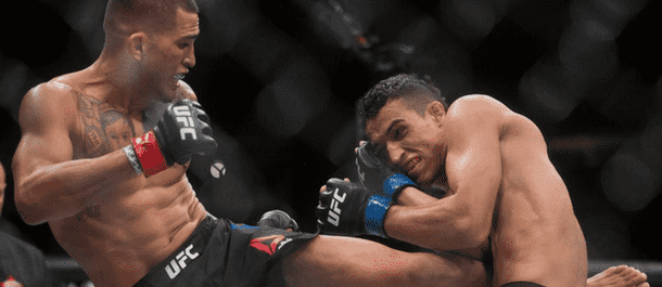 Anthony 'Showtime' Pettis Kicks the Body of Alex Oliveira
