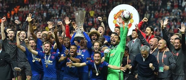 Manchester United bagged two trophies in Mourinho's first season.