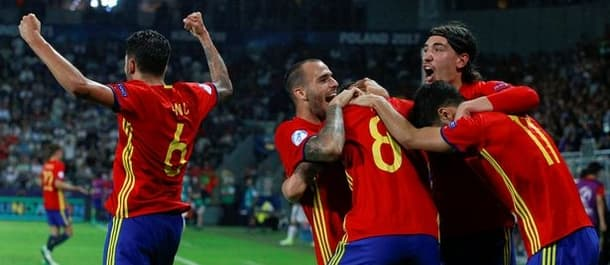 Spain's under-21's beat Italy 3-1 in the Euro Championship semi final.