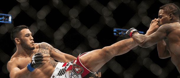Brad Tavares Kicks Lorenz Larkin