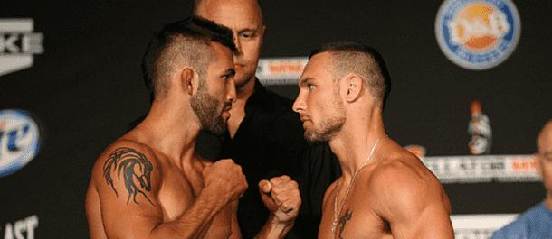 Derek Campos vs. Brandon Girtz Staredown
