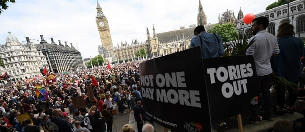 Protesters took to London streets at the start of July to demand an end to austerity.