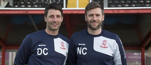 Danny and Nicky Cowley make up the managerial team at Lincoln.