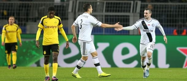 Legia Warsaw lost 8-4 to Dortmund in last year's Champions League.