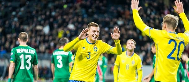 Sweden beat Bulgaria 3-0 in last October's World Cup qualifier.