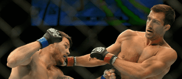 Luke Rockhold is stunned by Michael Bisping