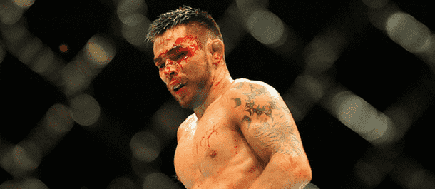 Ray Borg bloodied