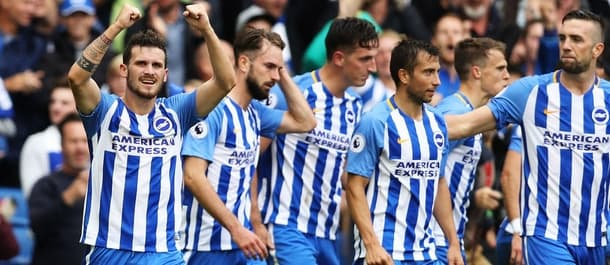 Brighton beat West Brom 3-1 for their first win of the season.