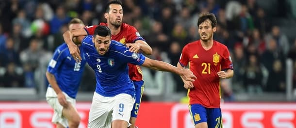 Spain and Italy meet in World Cup qualification on Saturday.