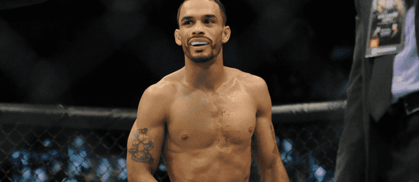 Rob Font celebrates after another UFC win