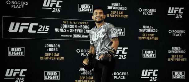 Ray Borg training for UFC 215
