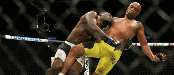 Derek Brunson takes Anderson Silva down to the mat