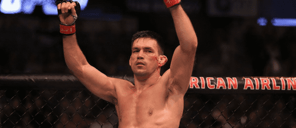 Demian Maia raises his hands - UFC
