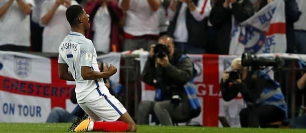 Marcus Rashford scored the winner as England beat Slovakia 2-1.