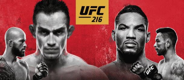 Official UFC 216 poster - Tony Ferguson vs. Kevin Lee