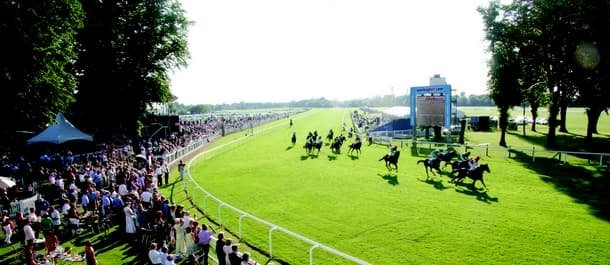 Two runners catch the eye at Windsor Races on Monday.