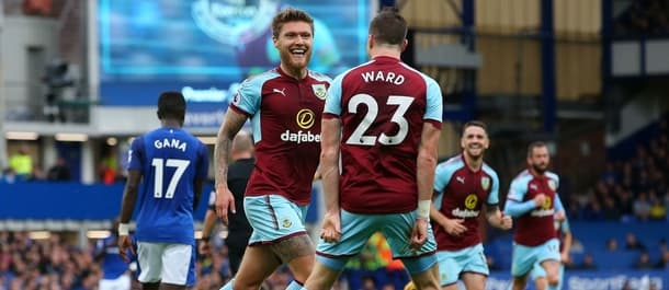 Burnley won 1-0 at Everton in their last Premier League match.