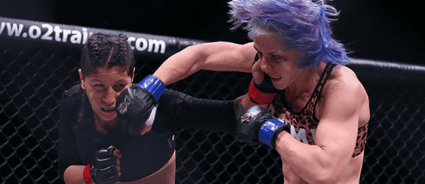 Jessica Rose-Clark lands a punch