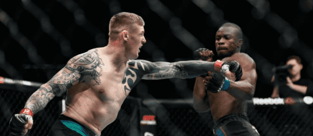 Charlie Ward punches in the UFC