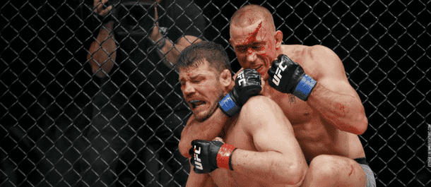 Georges St-Pierre submits Michael Bisping at UFC 217