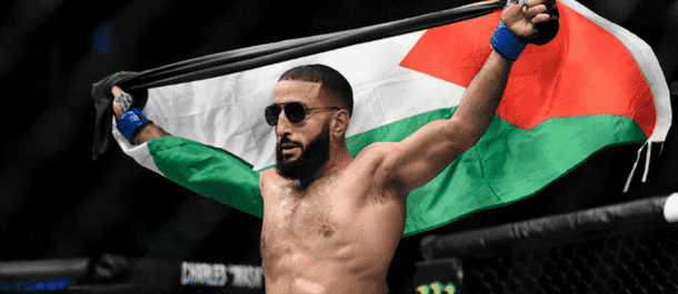 Belal Muhammad puts the shades on after a UFC win