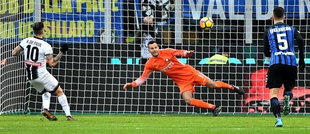 Udinese shocked Inter Milan 3-1 last week.