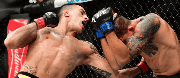 Thomas Almeida lands a punch - UFC