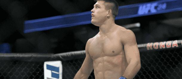 Drew Dober steps into the UFC's octagon