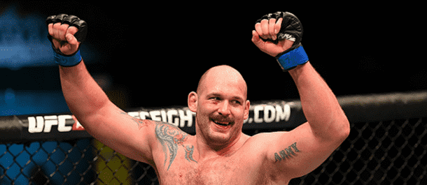 Timothy Johnson after winning in the UFC