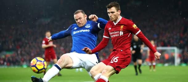 Liverpool and Everton drew 1-1 in the Premier League in December.