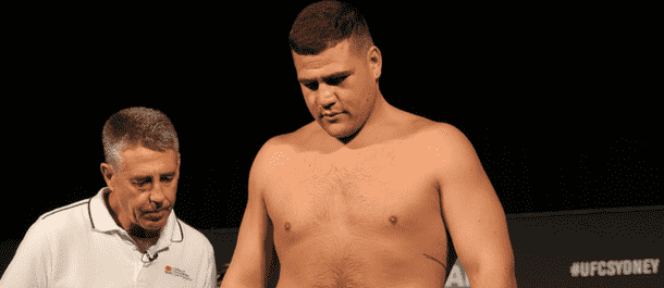 Tai Tuivasa in the UFC weigh-ins