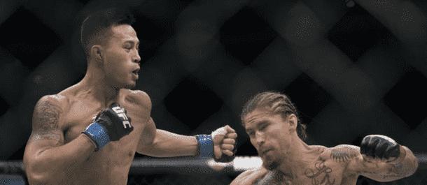 Andre Soukhamthath strikes Luke Sanders
