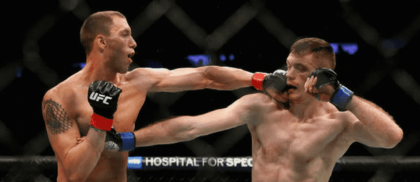 James Vick lands a left punch on Joe Duffy