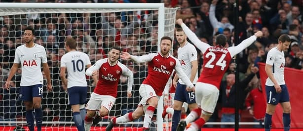 Arsenal beat Spurs 2-0 in the Premier League earlier this season.