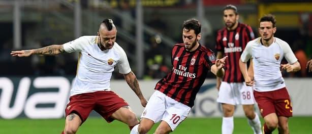 Roma beat Milan 2-0 at the San Siro last October.