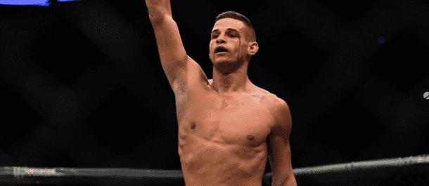 Tom Duquesnoy celebrates a UFC victory