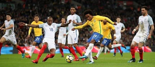 England drew 0-0 with Brazil in their last international friendly.