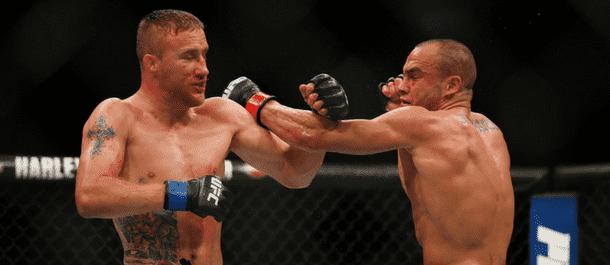 Justin Gaethje battles with Eddie Alvarez