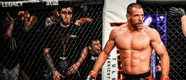 Rafael Lovato Jr. inside the Bellator cage